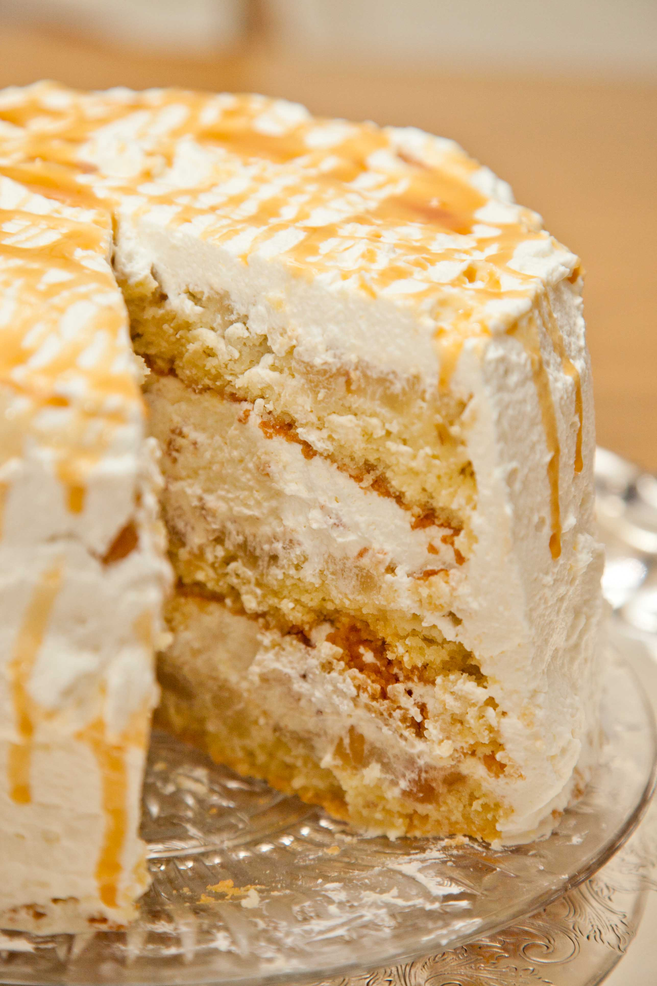 Pear Ginger Cake (with Whipped Cream Frosting) |