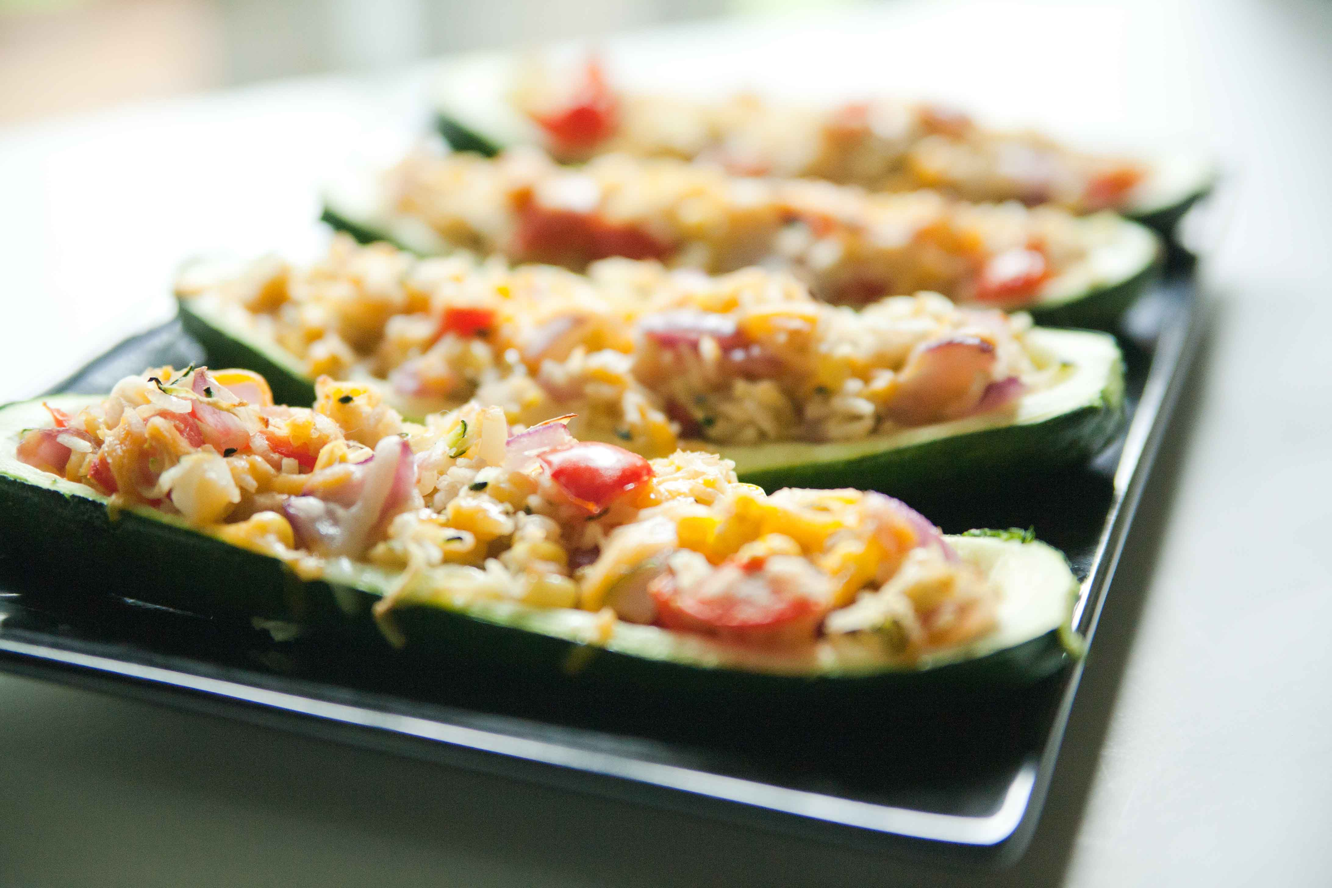 Published July 22, 2012 at 4368 × 2912 in Stuffed Zucchini Boats