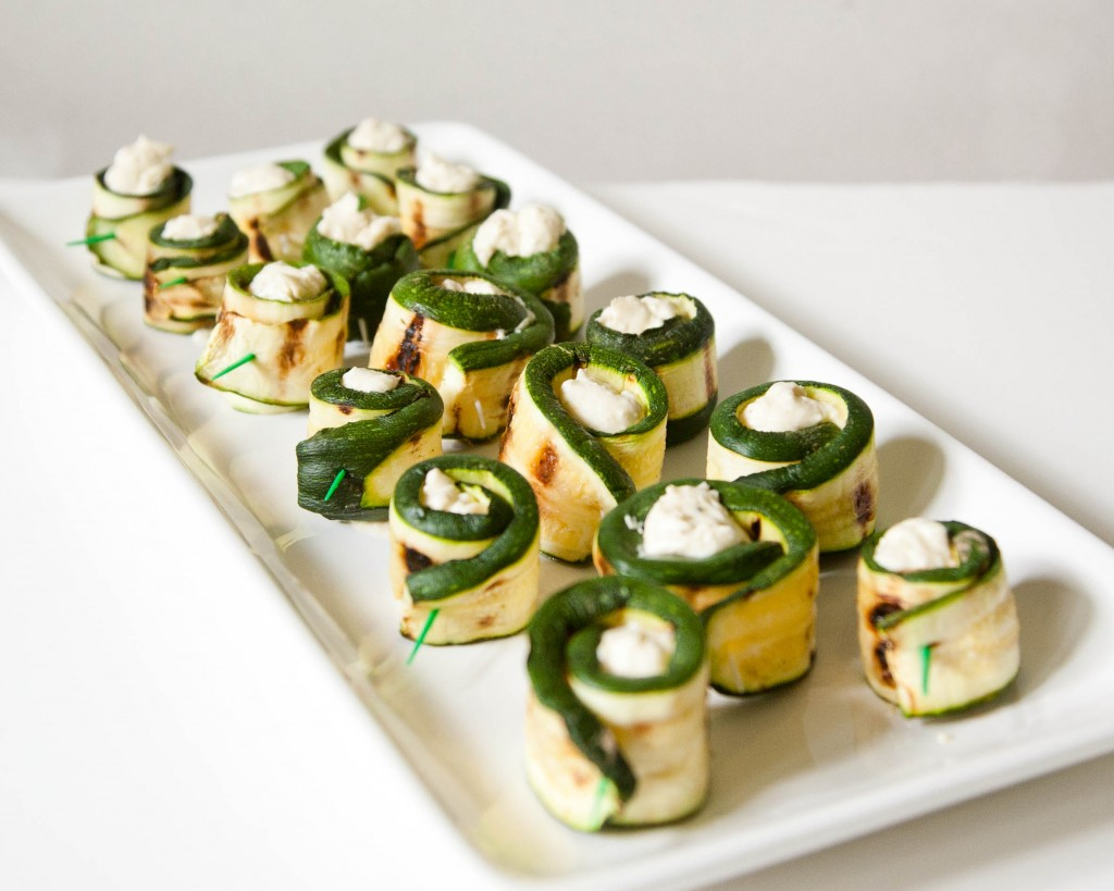 Grilled Zucchini with Cheese Roll-Ups