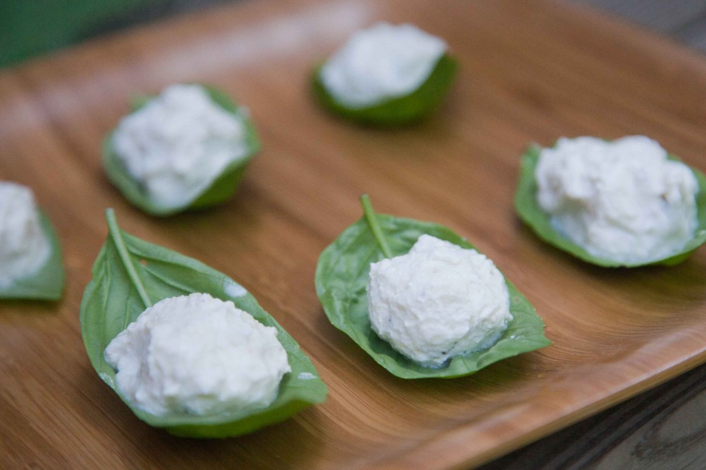 Basil Wrapped Goat Cheese Hunger Games