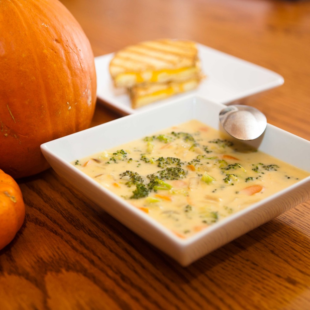 ... you are going to be after eating this soup, so yes – you are welcome