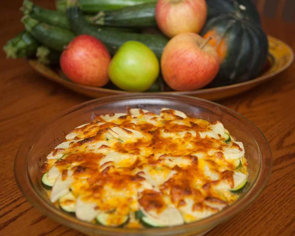 zucchini apple breakfast casserole
