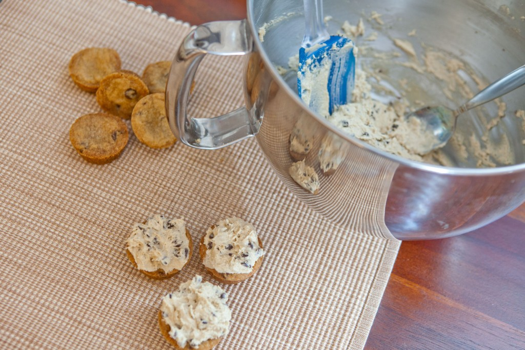 Chocolate Chip Cookie Dough frosted bites