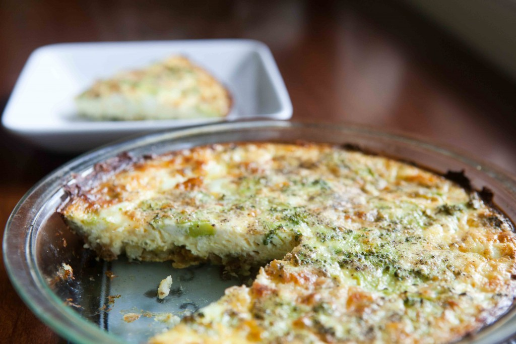 Leftover Mashed Potato Crusted Quiche |