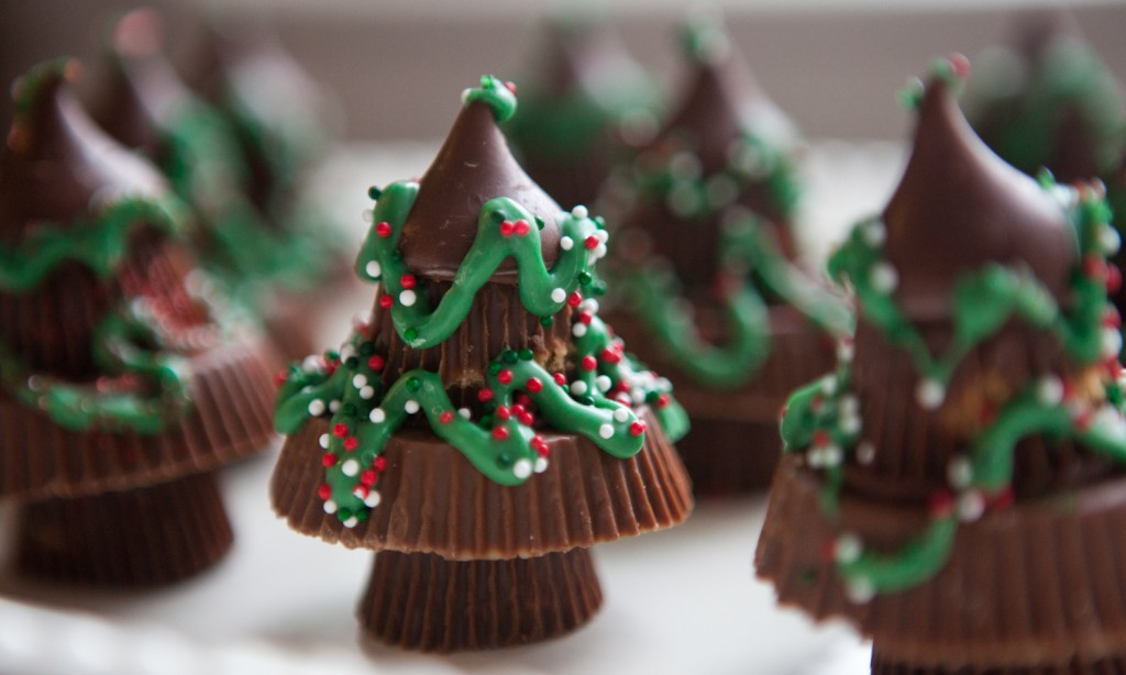 Forest of Homemade Reeses Trees