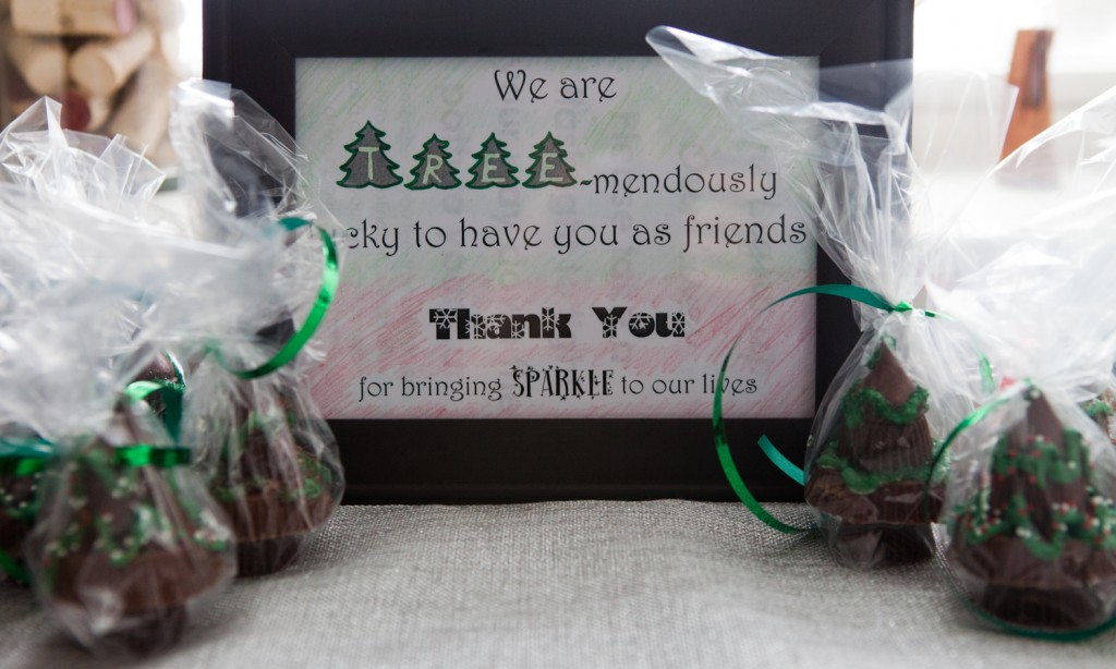 signage for Reeses Trees as Gift