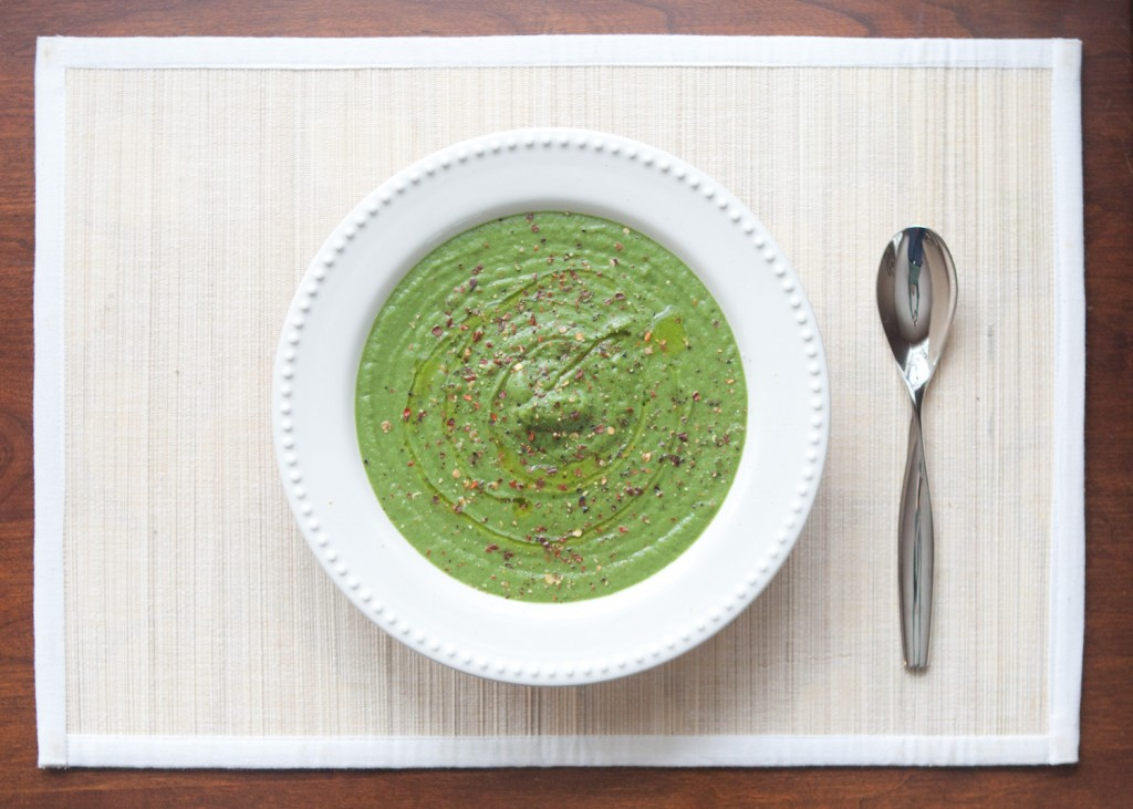 greens and cauliflower soup