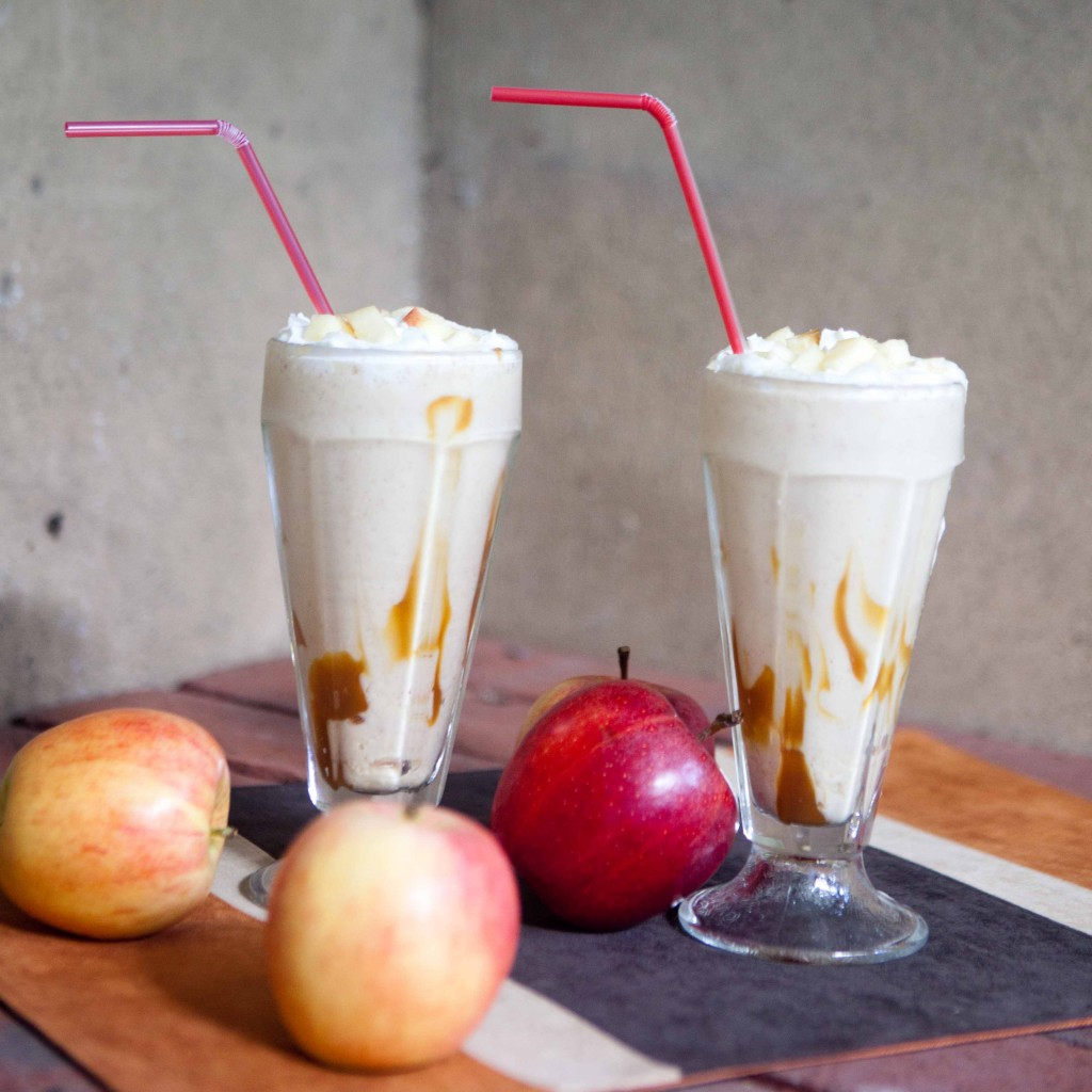 Fall Caramel Apple Shakes